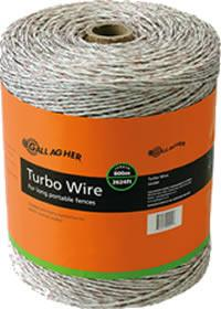 2624' White Turbo Wire - Gallagher Electric Fence