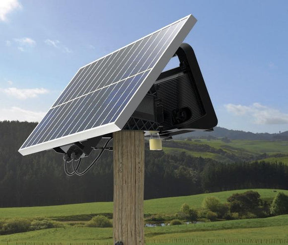 MBS400 Multi-Powered Energizer 60 miles / 280 acres with 40 Watt Solar Panel Kit