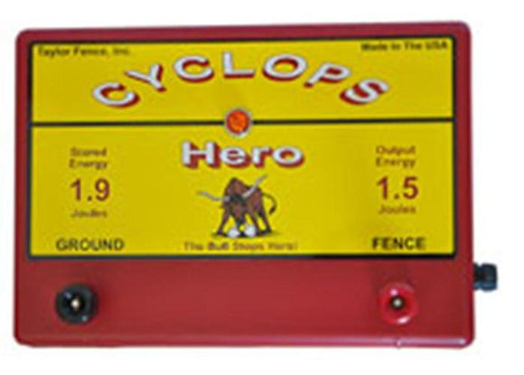 Cyclops HERO, 1.5 Joule, 15 Acre, 110V AC Powered Energizer | Free USA Shipping - CYCLOPS ELECTRIC FENCE CHARGERS