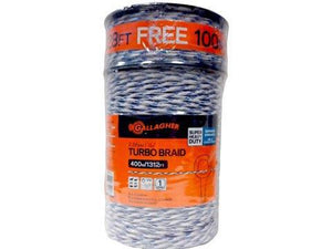 "8 Rolls 7/64"" Diameter Turbo Braid 1312' + Free 328' Free Shipping - Gallagher Electric Fence"