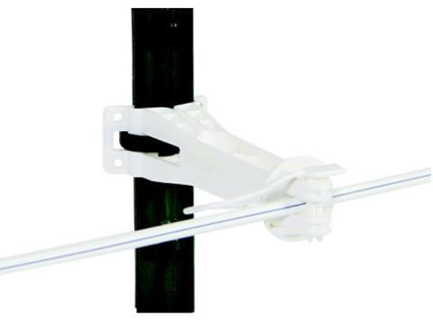 1100, White Multi-Post Offset Pinlock Insulators - Gallagher Electric Fence