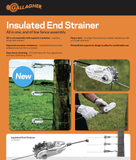 Case of 20, Insulated End Strainers - Gallagher Electric Fence