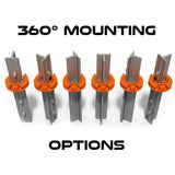 Lock Jawz 360° T-Post Insulator | 25 Pack | Orange - Gallagher Electric Fence