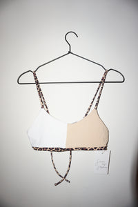 Limited Edition Top in Nude/White/Leopard