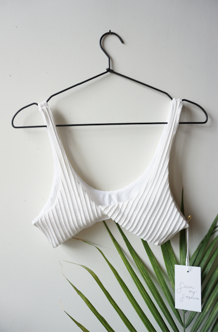 Marias Top in Ribbed Blanco SIZE XS-S