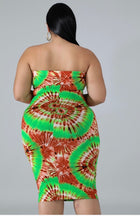 Load image into Gallery viewer, Straps Tye Dye Print dress