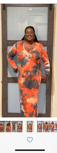 Multi Tye Dye Bodycon