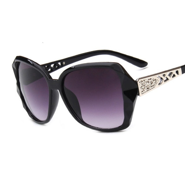 Fashion Square Sunglasses Women Luxury Brand Big Purple Sun Glasses Female Mirror Shades Ladies Oculos De Sol Feminino