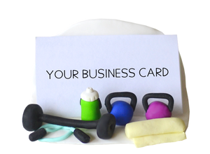 gym business card holder