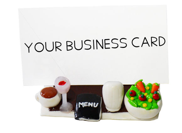 restaurant business card holder
