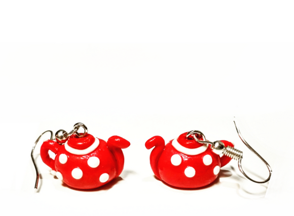 tea pots earrings