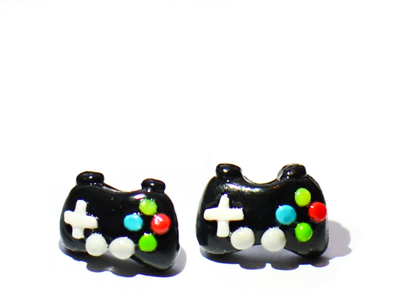 game remote earrings