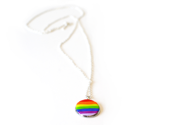 LGBT pride necklace