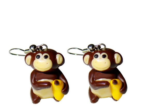 monkey earrings