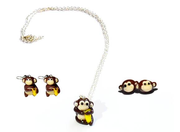 monkey jewelry set