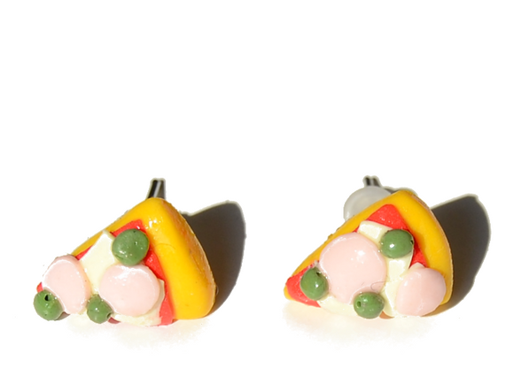 pizza handmade earrings