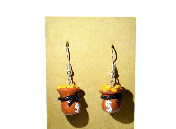 moneybag earrings