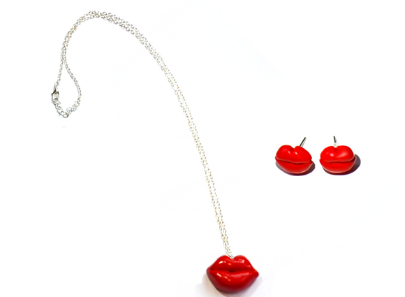 lips charms set