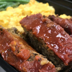 Lentil Meatloaf with Mac & Cheese