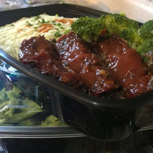 Lentil Meatloaf with Parsley Cauliflower Mash and Broccoli
