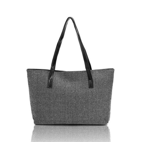 Women Fashion Canvas Handbag Shoulder Bags Shopping Linen Casual Totes - Just Hers