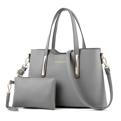 2 Piece Leather Shoulder Bag - Just Hers