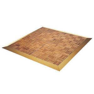 Dance Floor Wood Parquet with Gold Trim