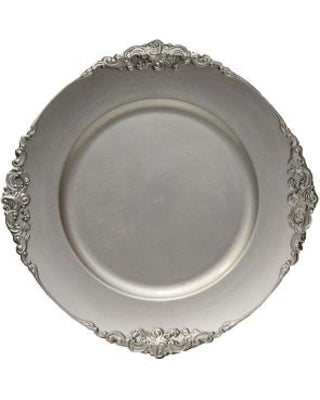Charger Plates Vintage Silver