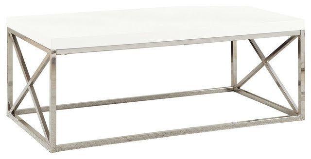 Coffee Table White with Chrome