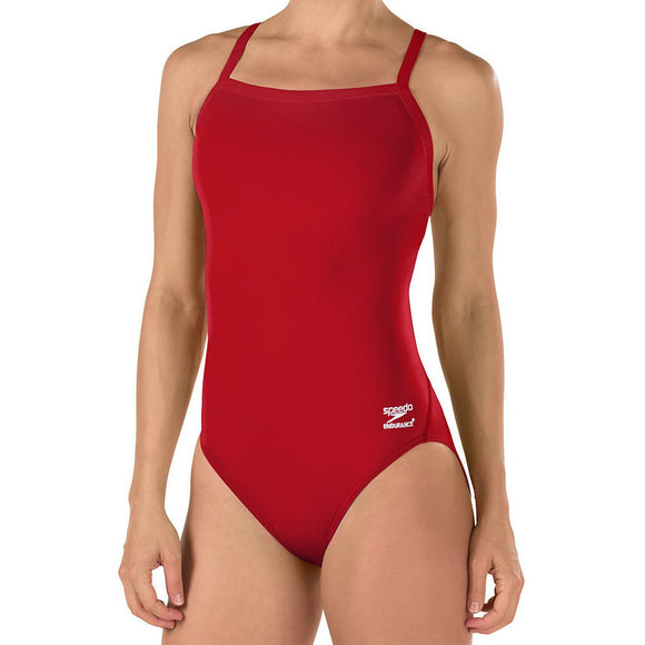 Speedo Endurance+ Flyback (Red w/embroidered team logo)_NGHS