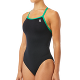 TYR Hexa Diamondfit (Black/Green w/embroidered team logo)_OAC