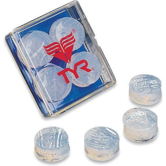 TYR Soft Silicone Ear Plugs (Clear)