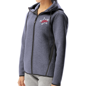 TYR Women's Elite Team Hoodie (EMBROIDERED WITH SWIM ATLANTA LOGO) - Heather Navy