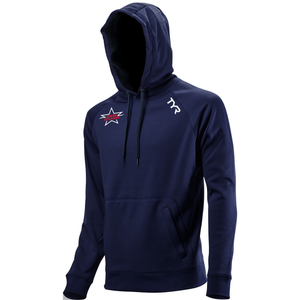 TYR Men's Performance Pullover Hoodie (EMBROIDERED WITH SWIM ATLANTA LOGO) - Navy