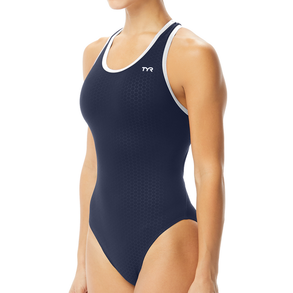 TYR Hexa Maxfit (Navy/White w/embroidered team logo)_RC