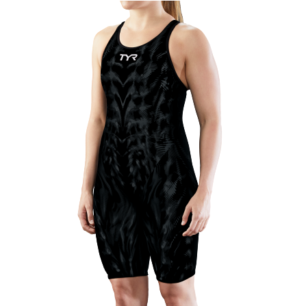 TYR Venzo Genesis Open Back Swimsuit (Onyx)