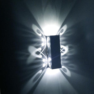 Double Butterfly LED Wall Lights