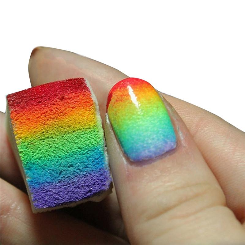 12pcs Gradient Nails Soft Sponges for Color Fade Manicure