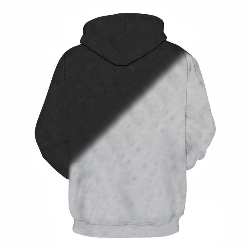 Black White Cats 3D Hoodie