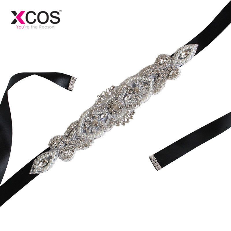 507833aa7c Exquisite Pearl Woman Bridal Sash 2016 Crystal Rhinestone Formal Wedding  Gowns Shiny Luxurious Wedding Belts Accessories SA851