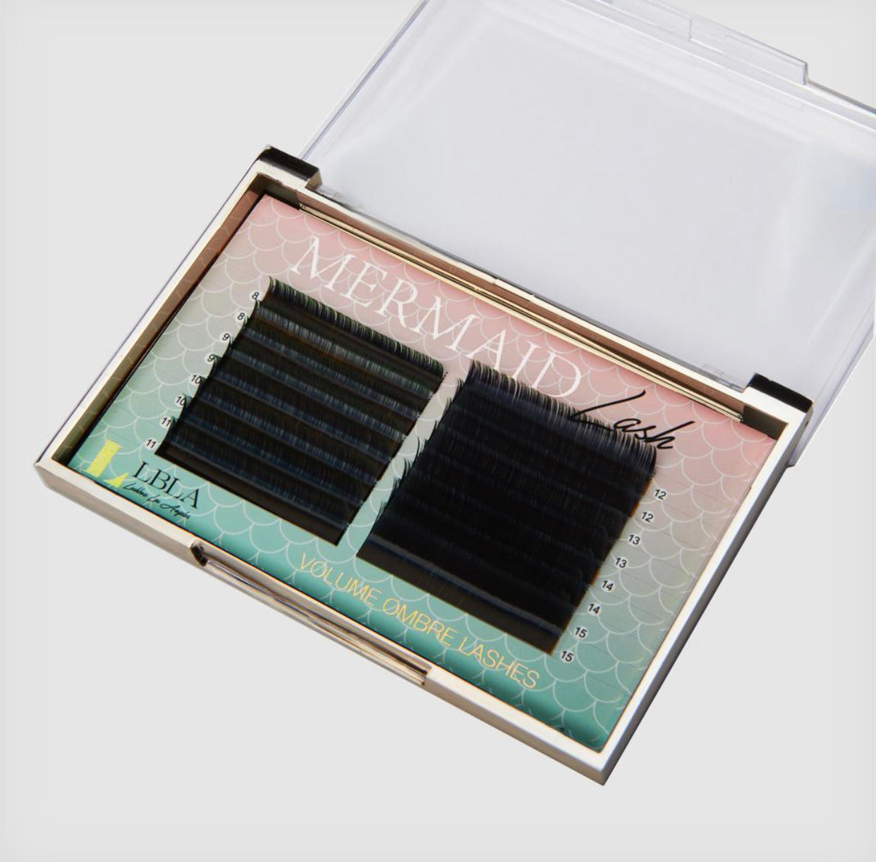 Mermaid Volume Ombre Lashes 0.05 Mixed Tray- Green