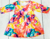 Sunburst Explosion Tie-Dye Dress