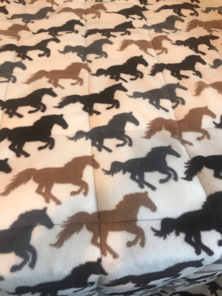 4-8Ib fleece horses weighted blanket