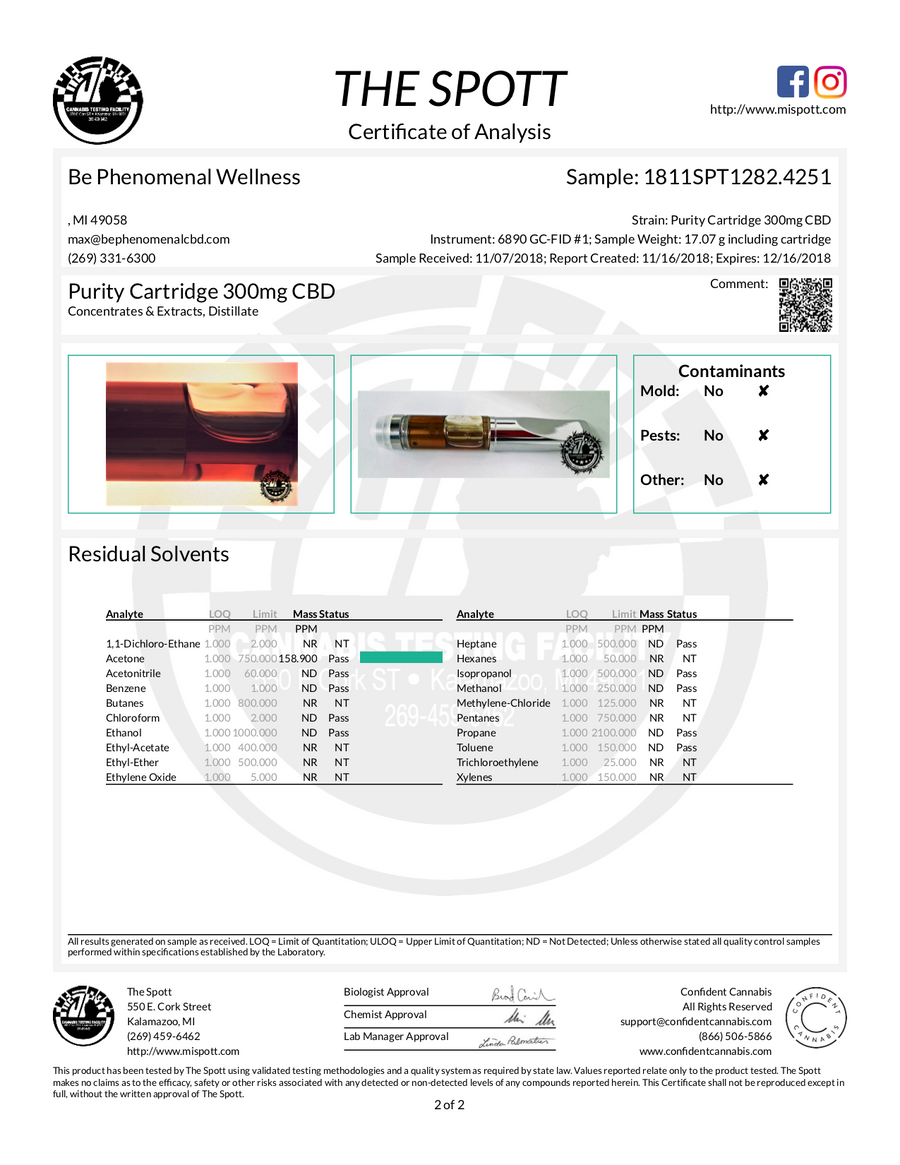 PURITY CBD Vape Cartridge (retail case 24 units)