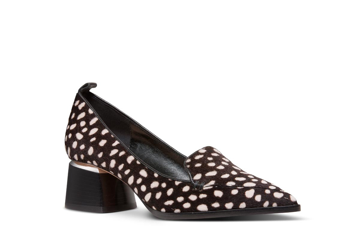 NICHOLAS KIRKWOOD Printed Pony Beya Loafer with Block Heel