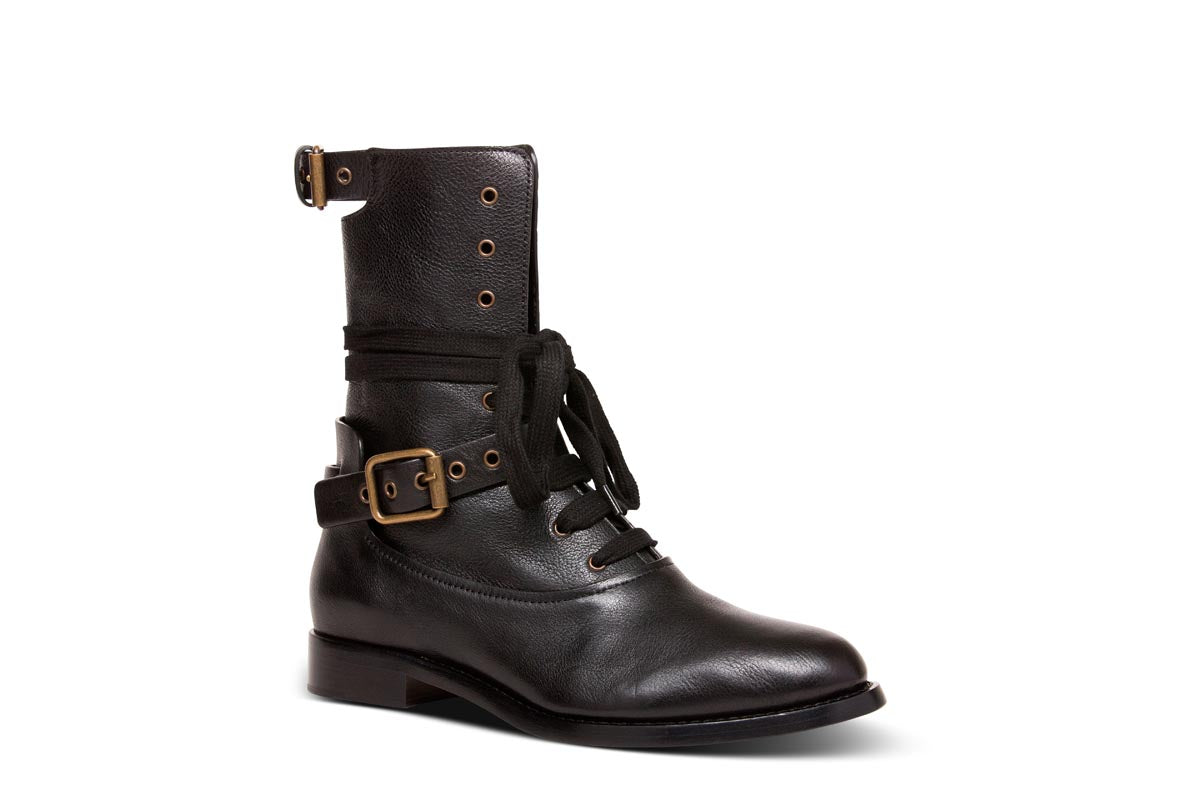 CHLOE Flap Down Combat Boot