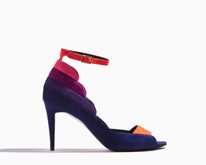 PIERRE HARDY Roxy Colorblock Peep-toe Pump