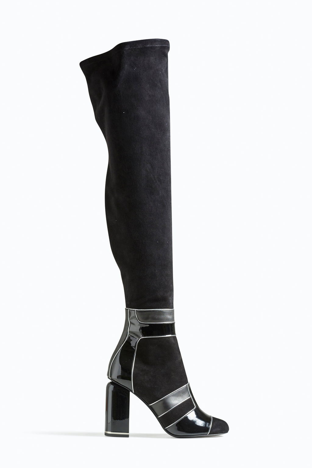 PIERRE HARDY Thigh high Stretch Suede Mod Boots