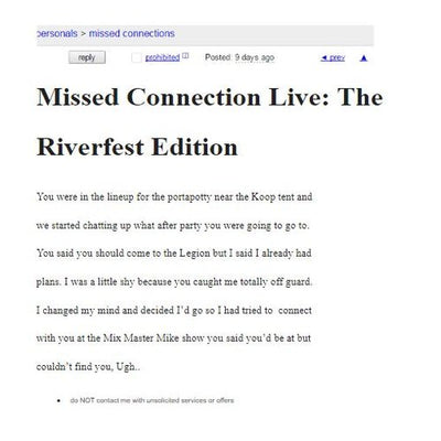 MISSED CONNECTIONS LIVE: THE RIVERFEST EDITION (Elora, ON) at Riverfest 2019