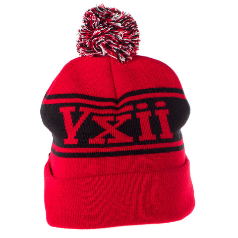 Image of vxii v12 lifestyle mens beanies maglia rossa back